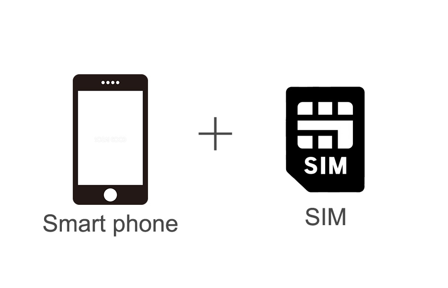 Smart phone + Cheap SIM which gives reasonable plans to those who stay in Japan for 6 months or less