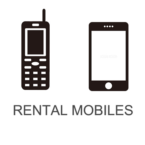 Rental mobile shops which you can contract on the spot at Narita International Airport